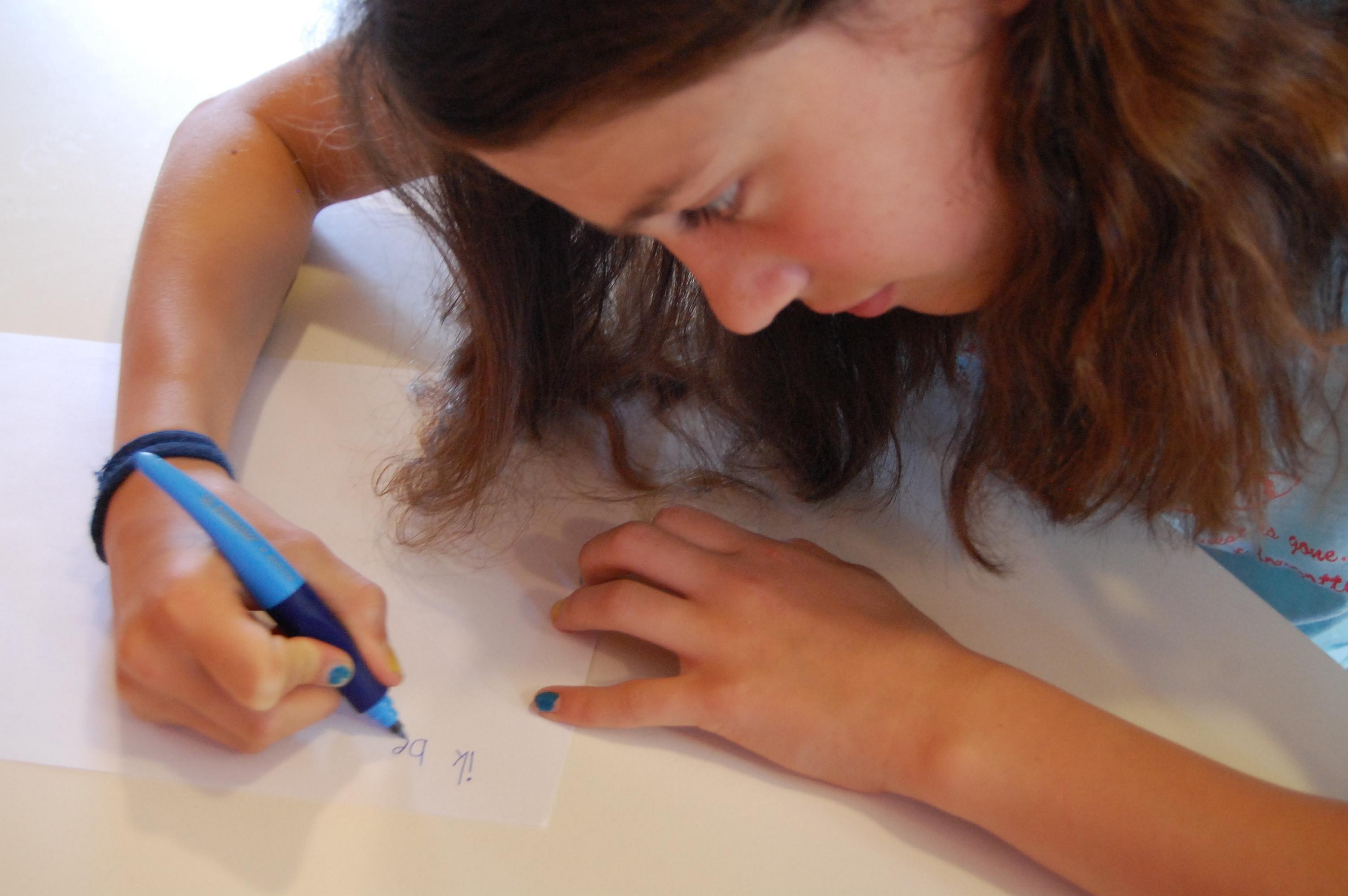 Schrijf oefeningen pediatrie, kinesitherapie
